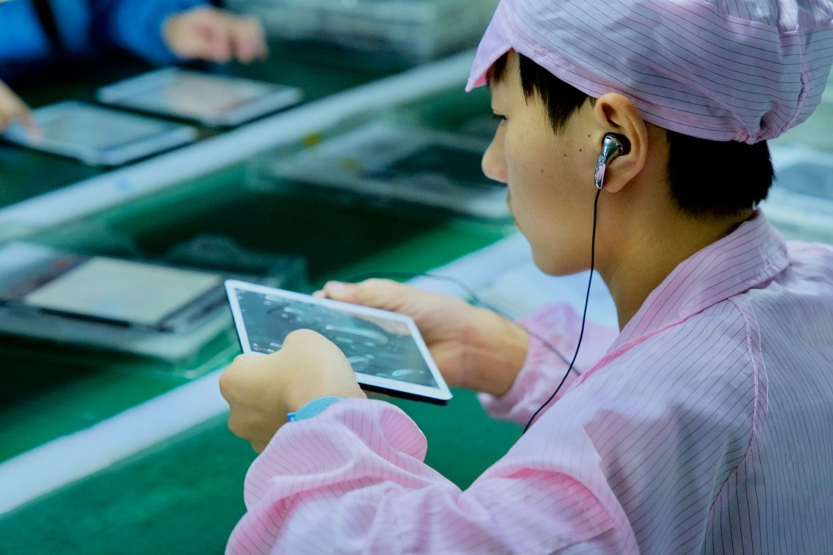 Tablets quality inspection in Taiwan